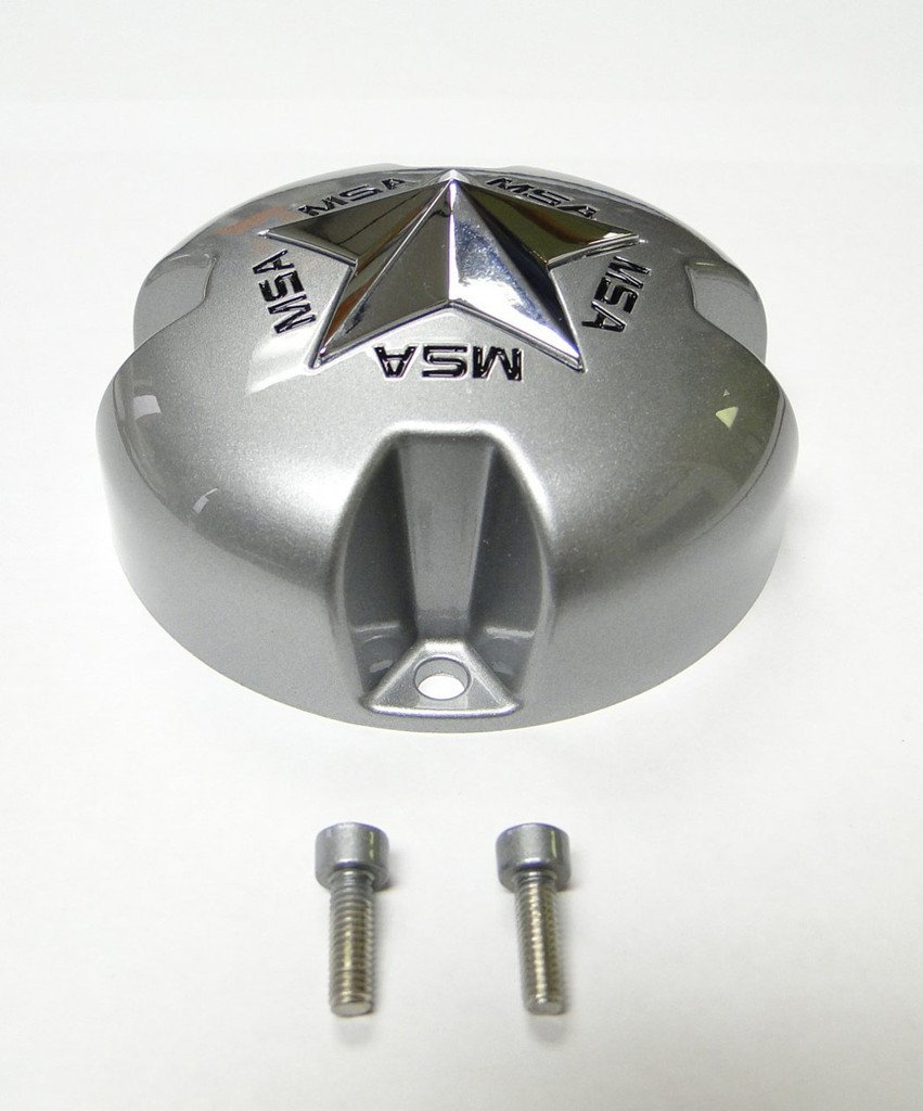 MSA Gloss Metallic Silver Cap with Chrome Star keskikuppi