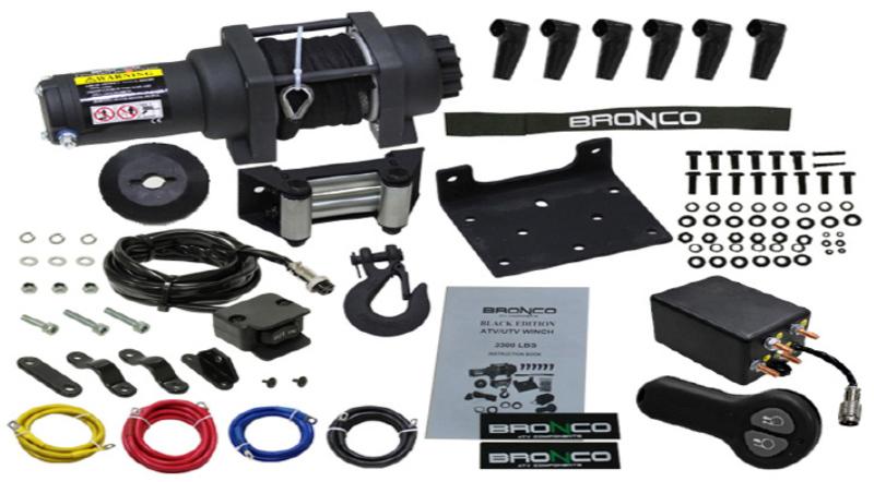 Bronco 3500 Black Edition vinssi synteettisellä köydellä