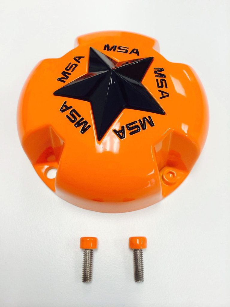 MSA Gloss Orange Cap with Gloss Black Star keskikuppi