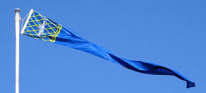Kalajoki-Isännänviiri 50 cm x 400 cm Lohivaakunakuvioinnilla