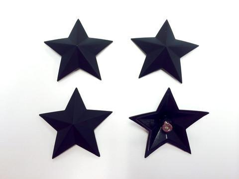 MSA Matte Black Cap Stars keskikupin tähdet