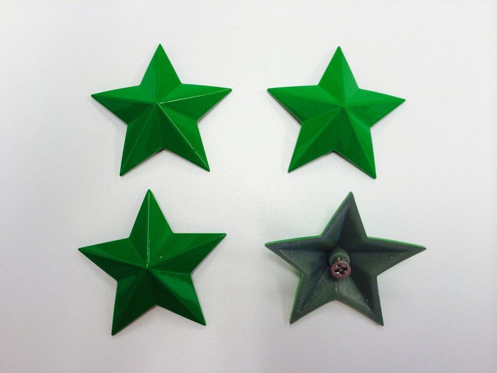 MSA Vibrant Green Cap Stars keskikupin tähdet