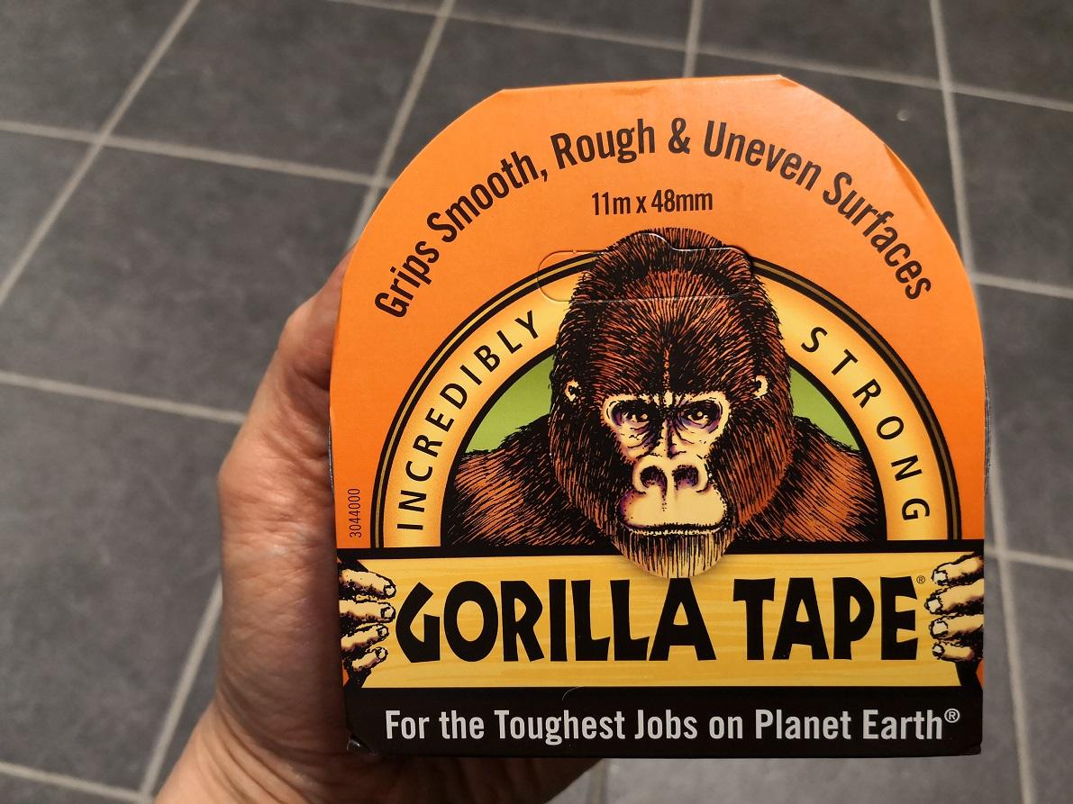 Gorilla teippi musta 11 m x 48 mm