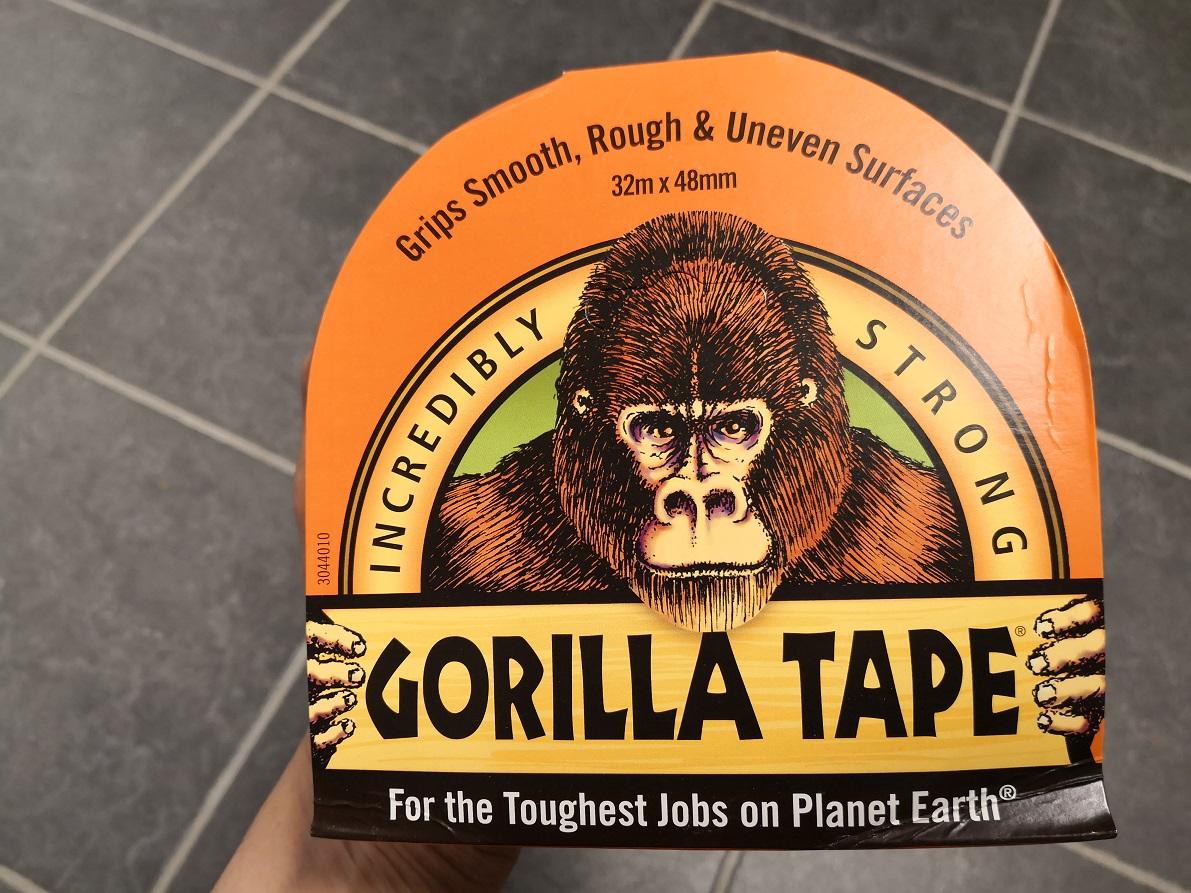 Gorilla teippi musta 32 m x 48 mm