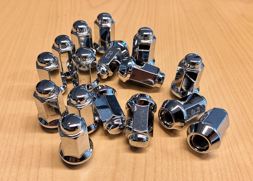 ITP kromattu mutterisarja 10x1,25 mm 60 asteen suoralla kartiolla 14 mm avaimelle