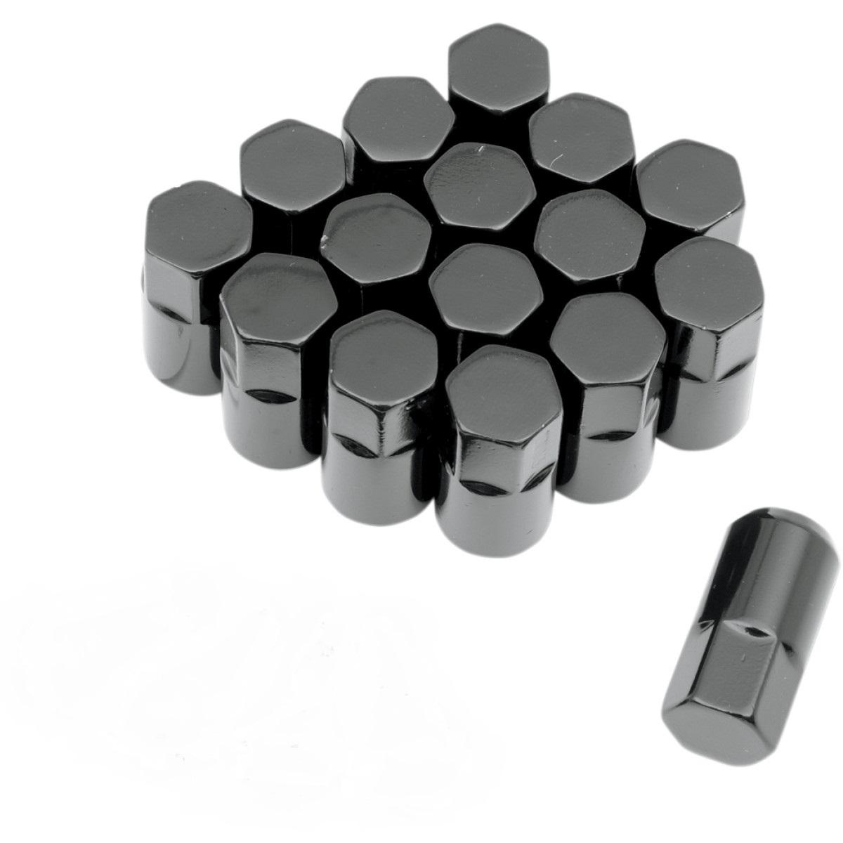 Moose musta mutterisarja 10x1,25 mm 60 asteen suoralla kartiolla 17 mm avaimelle