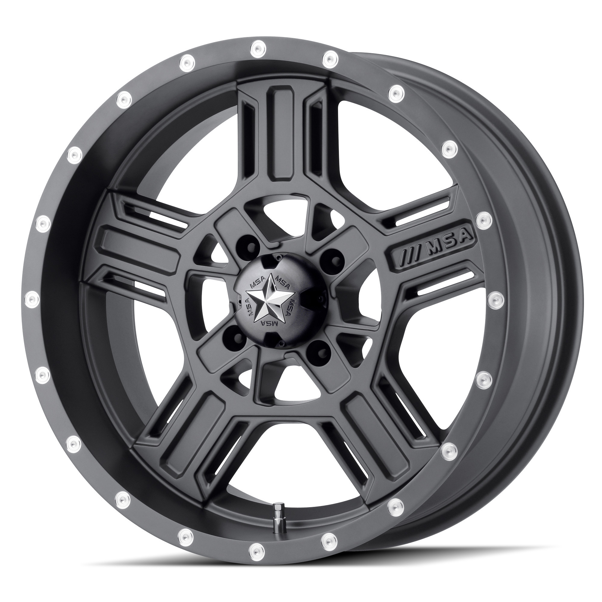 MSA 20x7 4x137 M32 Axe Matte Gray vannesarja Can-Am