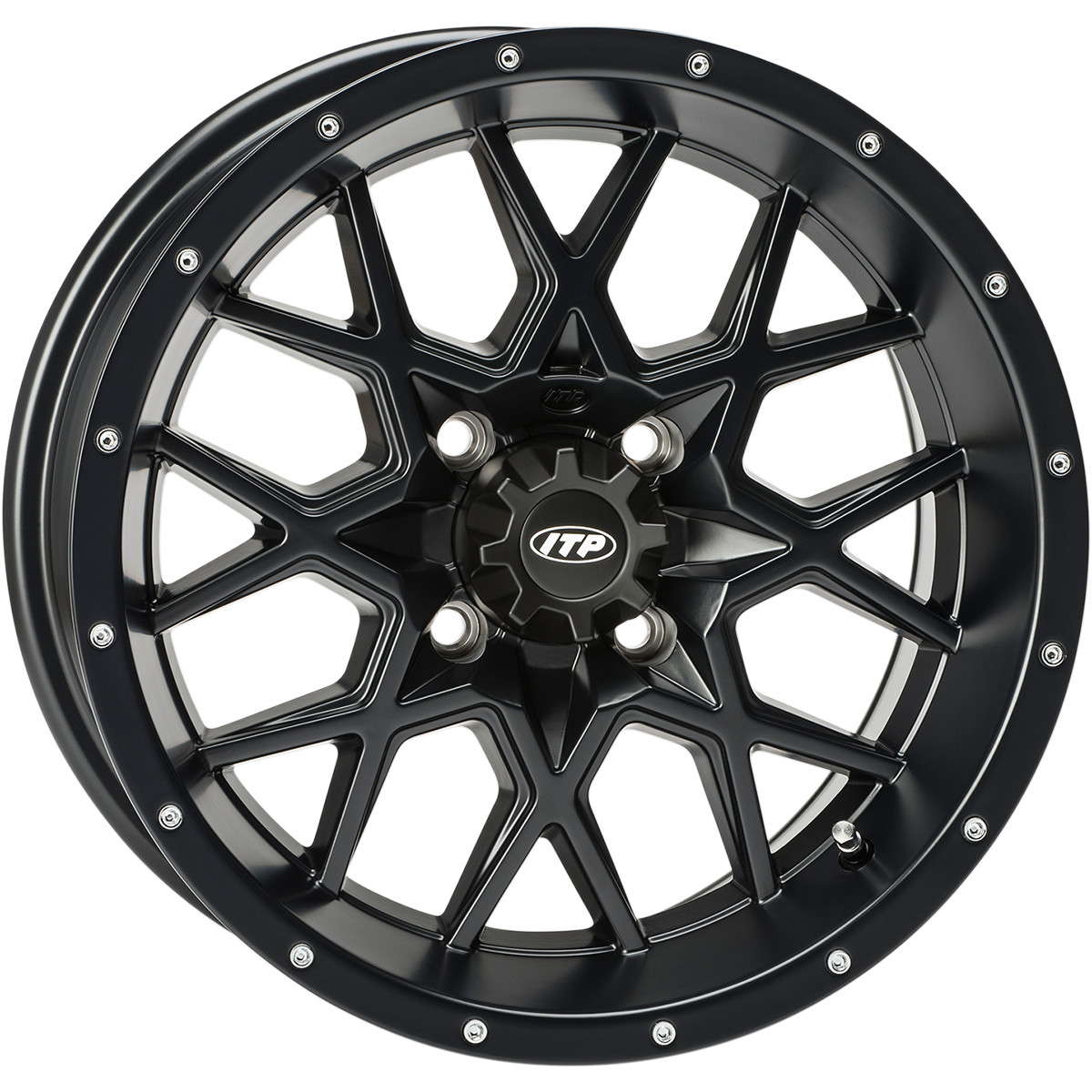 ITP 12x7 4x137 Hurricane Black 6x6 vannesarja Can-Am