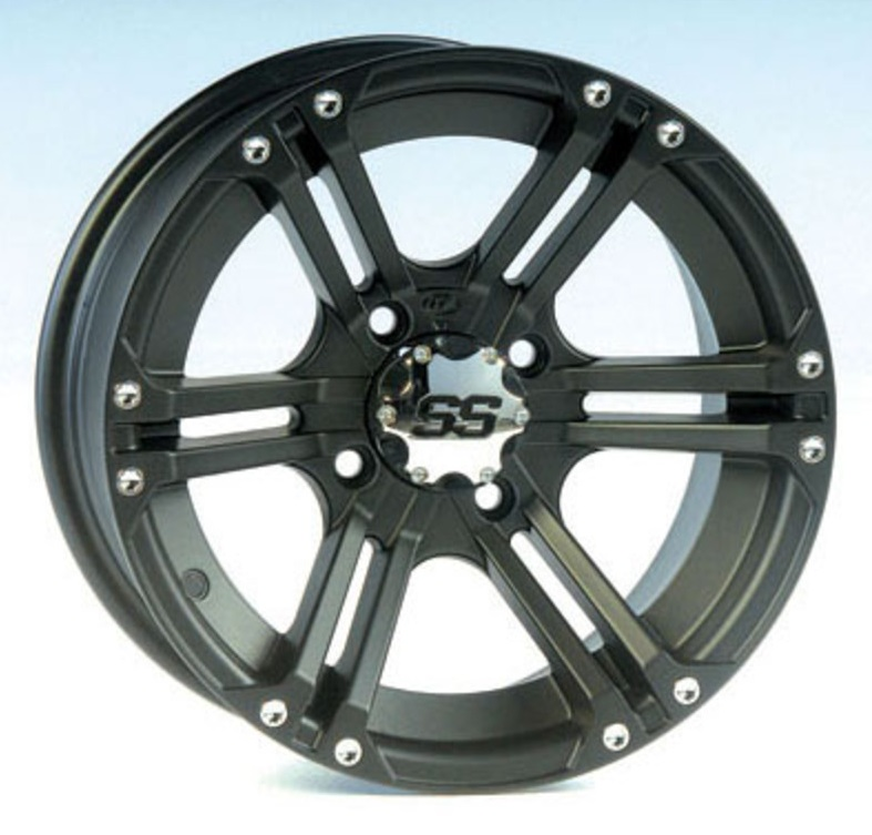 ITP 12x7 4x137 SS212 Matte Black vannesarja Can-Am