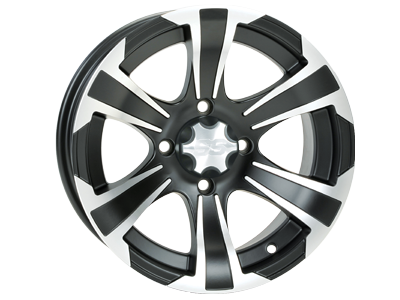 ITP 14x6 / 14x8 4x115 SS312 Matte Black / Machined vannesarja Arctic Cat