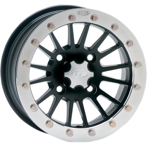 ITP 14x7 4x156 SD Dual Beadlock Matte Black / Polished Ring vannesarja Polaris